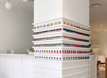 Mt Vernon Triangle Nail Polish Wall resized - Salon Near Me