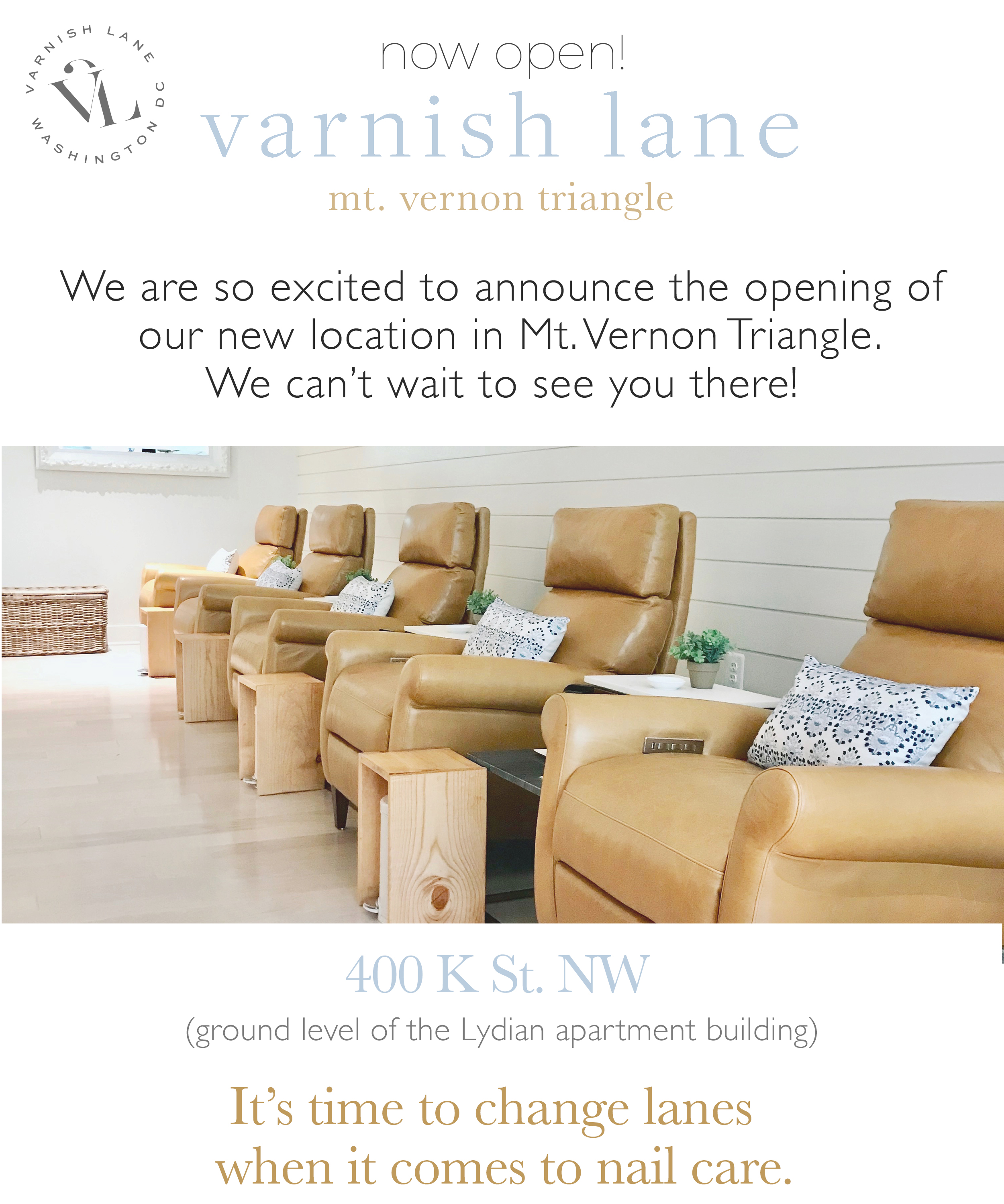 Mt. Vernon Opening Email - Varnish Lane Mt. Vernon Triangle Is Open!